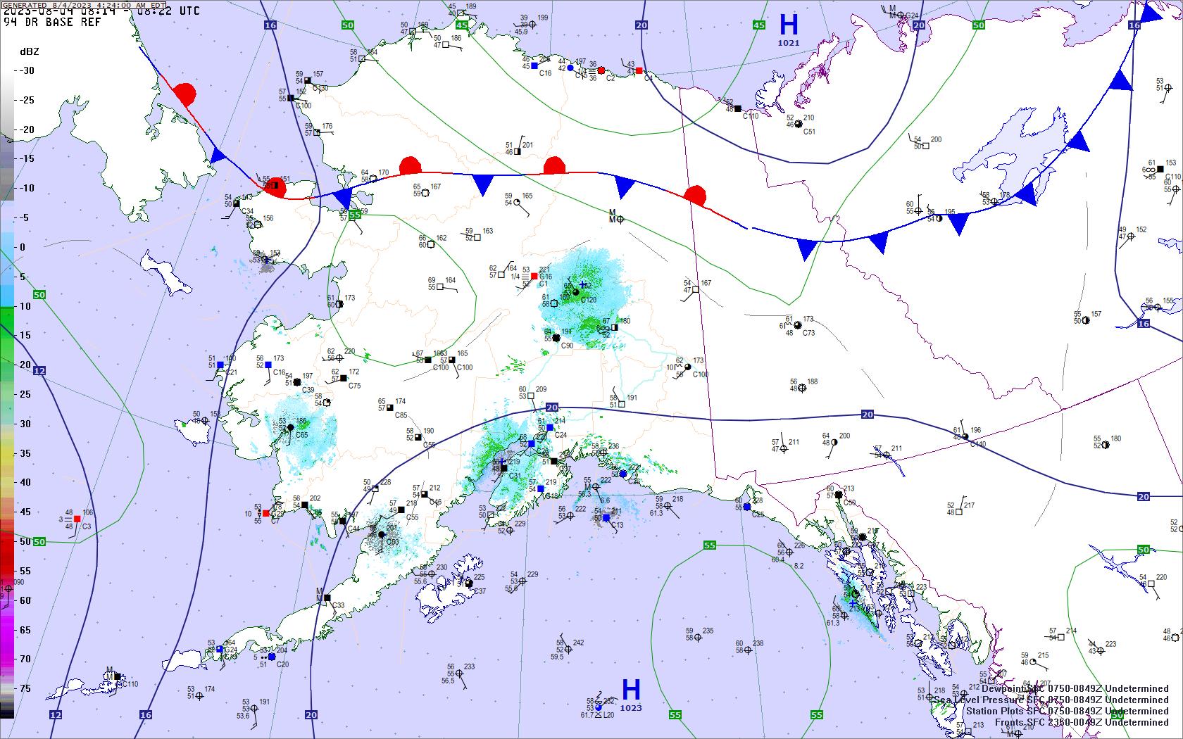 Alaska Yukon surface map