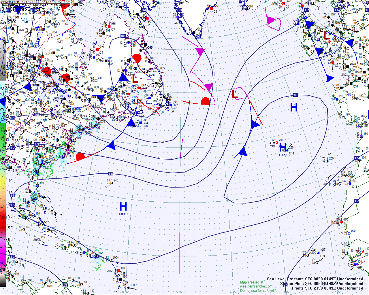 Regional surface map